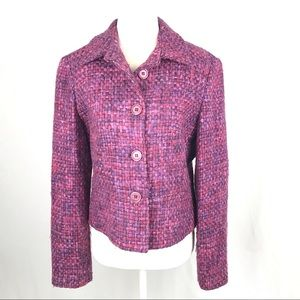 Louben Tweed Jacket, Pink/Purple Tweed, 6